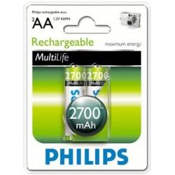 Аккумуляторы Philips HR6 2700 MAh BL2